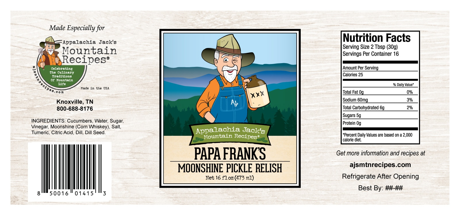 Papa Franks Moonshine Pickle Relish