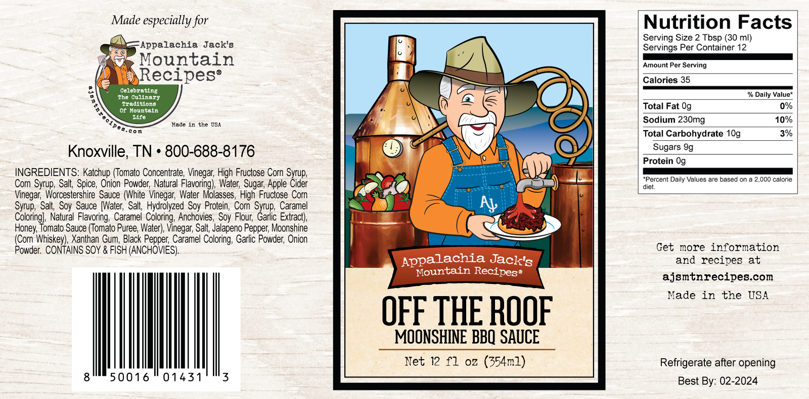 Off The Roof Moonshine BBQ Sauce